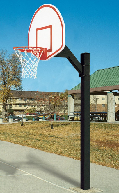Ultimate Jr Aluminum Fan Shape Basketball System