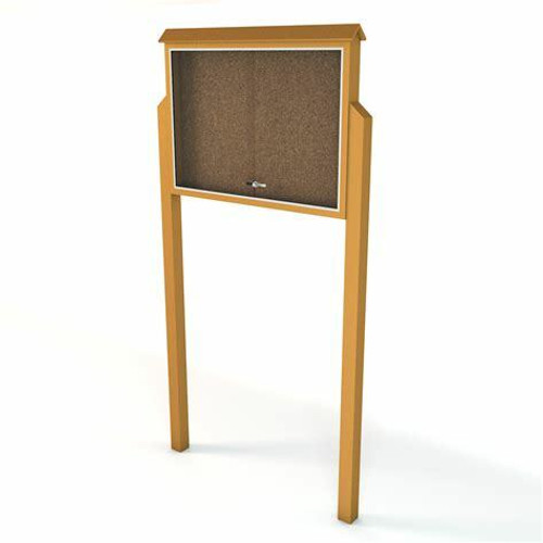 Medium two sided message center with mounting posts