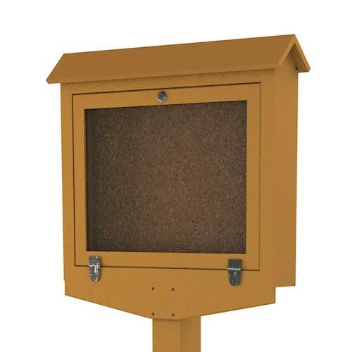 Small Hinged Message Center- Cedar