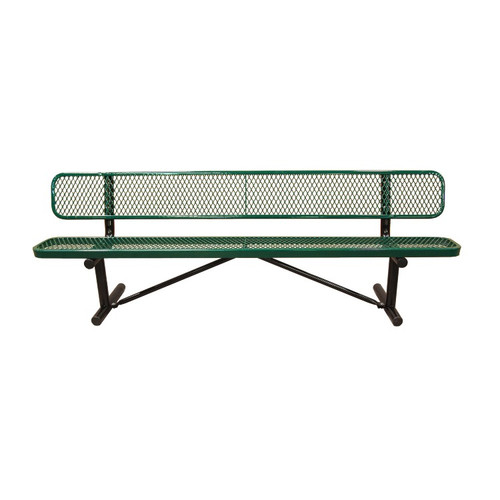 15' Expanded Metal Park Bench