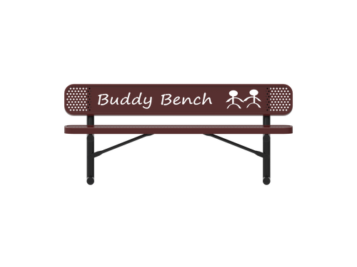 4' Punched Steel Buddy Bench