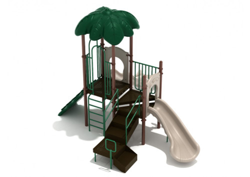 Village Green Playset - Green, Brown and Tan