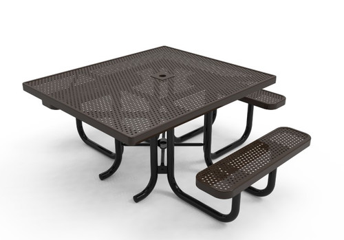 "46"" Square 3 Seat Accessible Punched Steel"