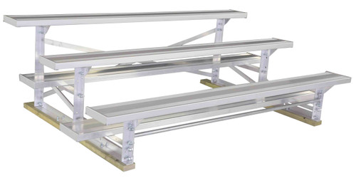 3 Row, 15 person Aluminum Bleacher