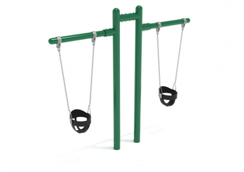 7 feet high Elite Early Childhood T Swing - 2 Cantilevers -Green