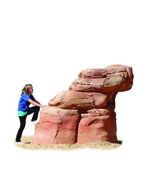 Medium sand stone climbing boulder