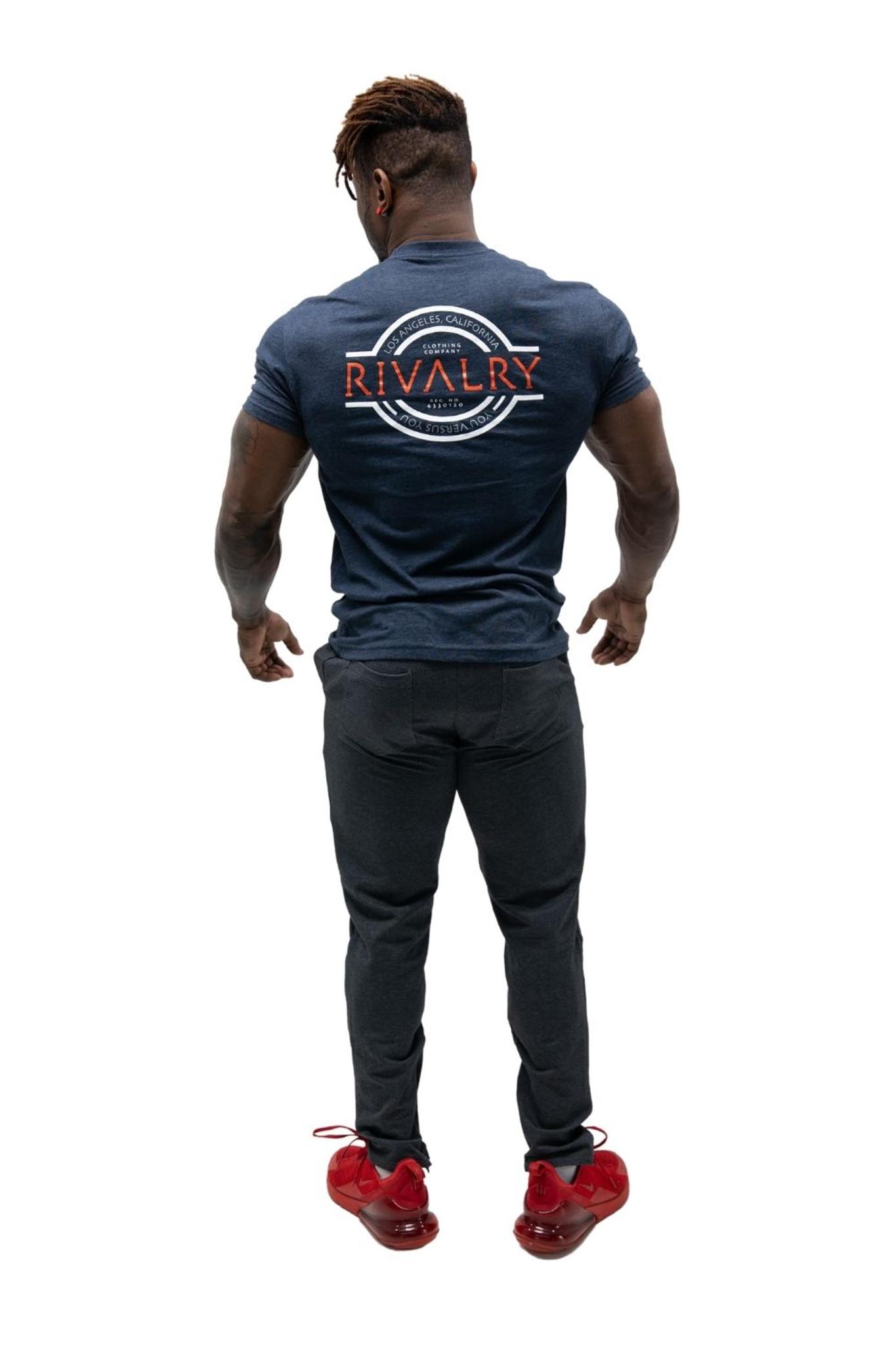 Rivalry Clothing Mens Tee Trademark Navy
