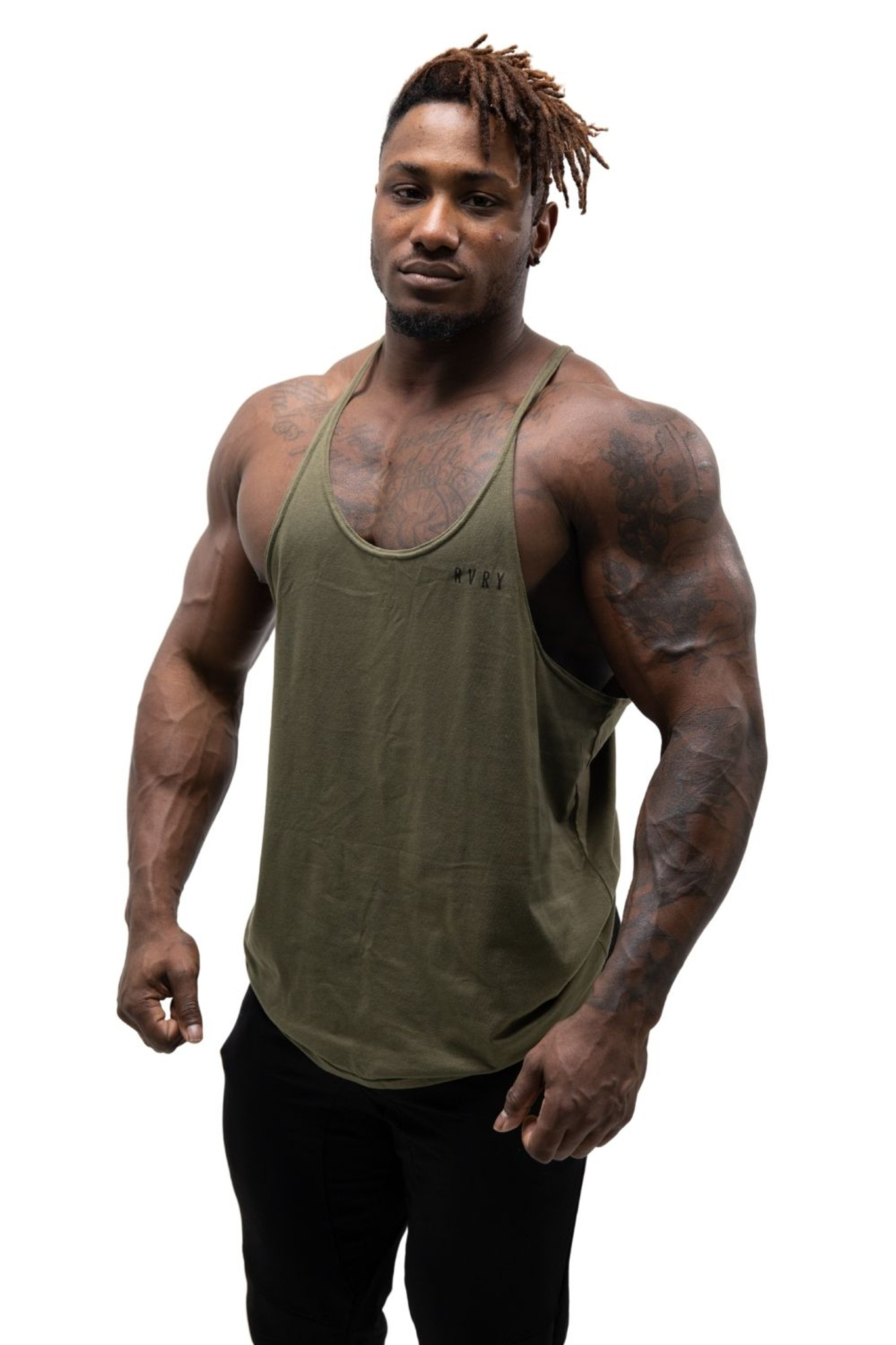 Rivalry Clothing Mens Legacy Stringer Military Green