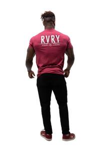 Rivalry Clothing Mens Aviation Tee Cardinal