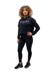 Womens Elegance Black Crop Sweater