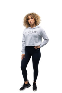 Rivalry Clothing Ladies Crop Sweater Grey