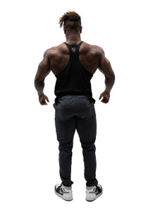 Rivalry Clothing Mens Stringer Vest Legacy Onyx