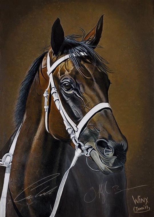 FINE ART PRINT of legendary champion mare WINX