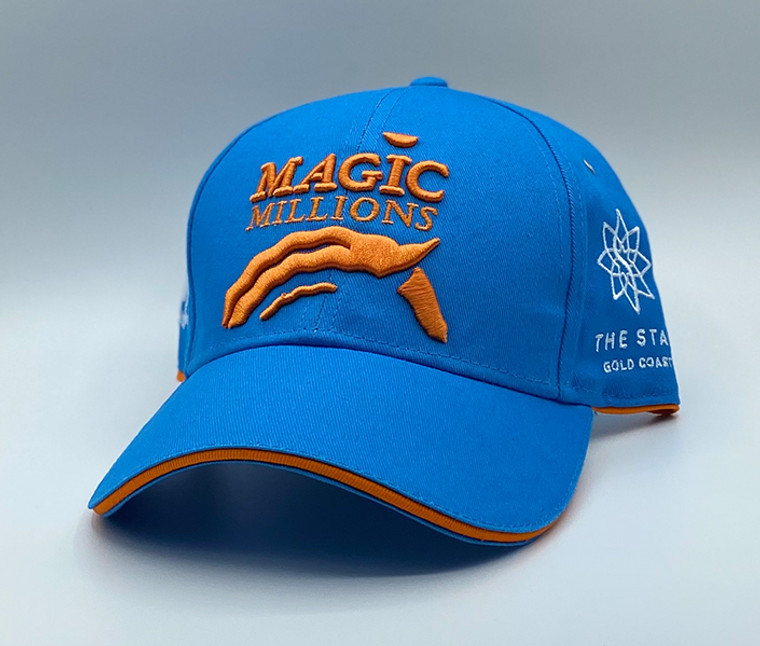 *2020 LIGHT BLUE AND ORANGE CAP