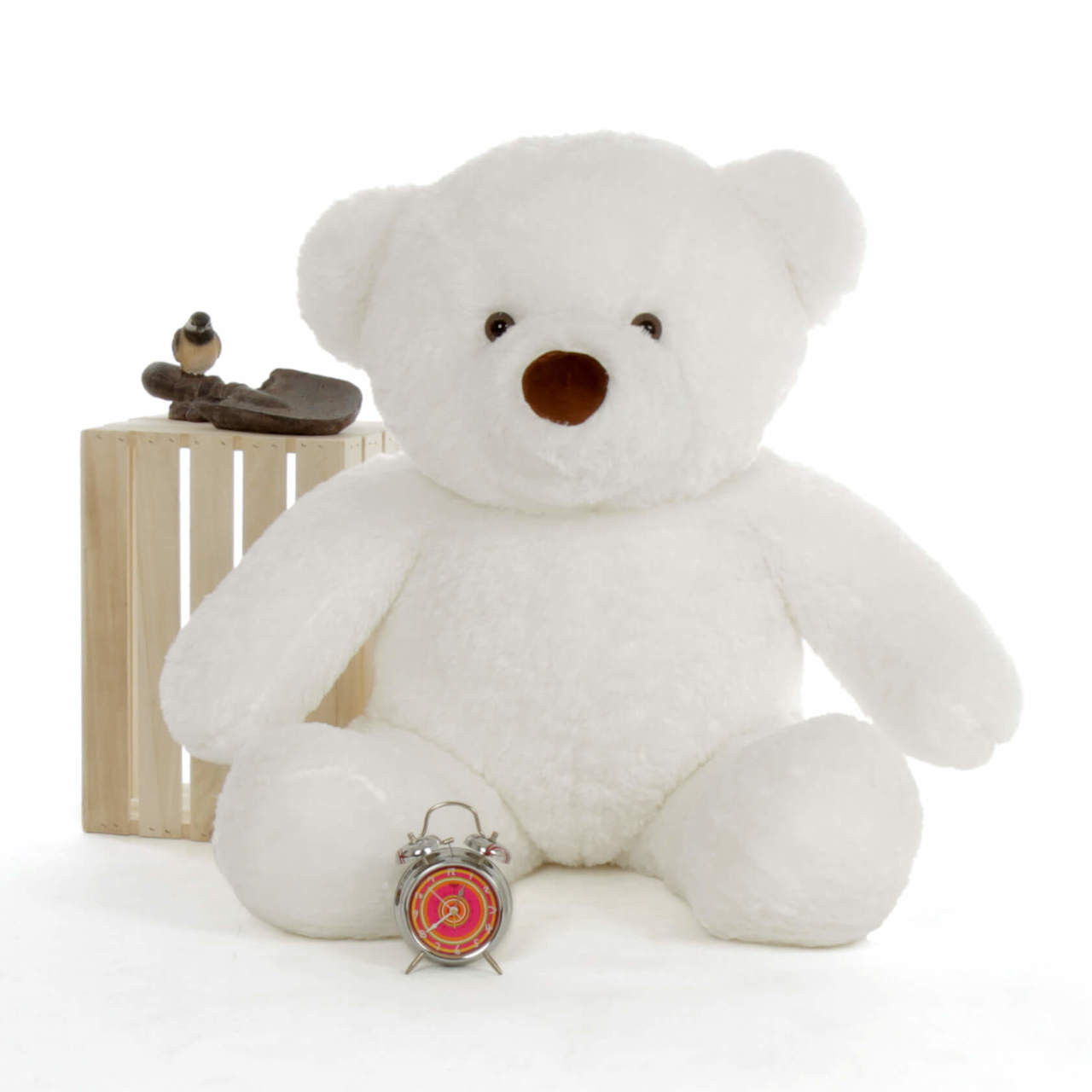 White 4 Foot Giant Teddy Bear with Premium Fluffy Soft Fur