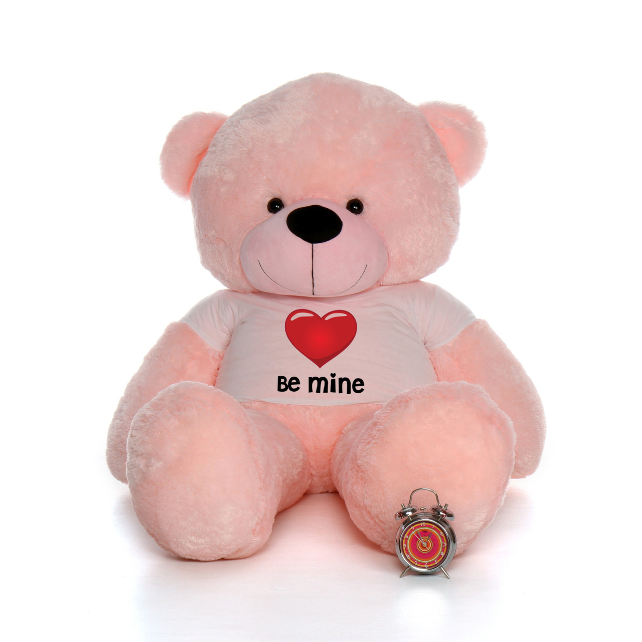 6ft Pink Lady Cuddles by Giant Teddy in Be Mine Valentine's Day T-Shirt