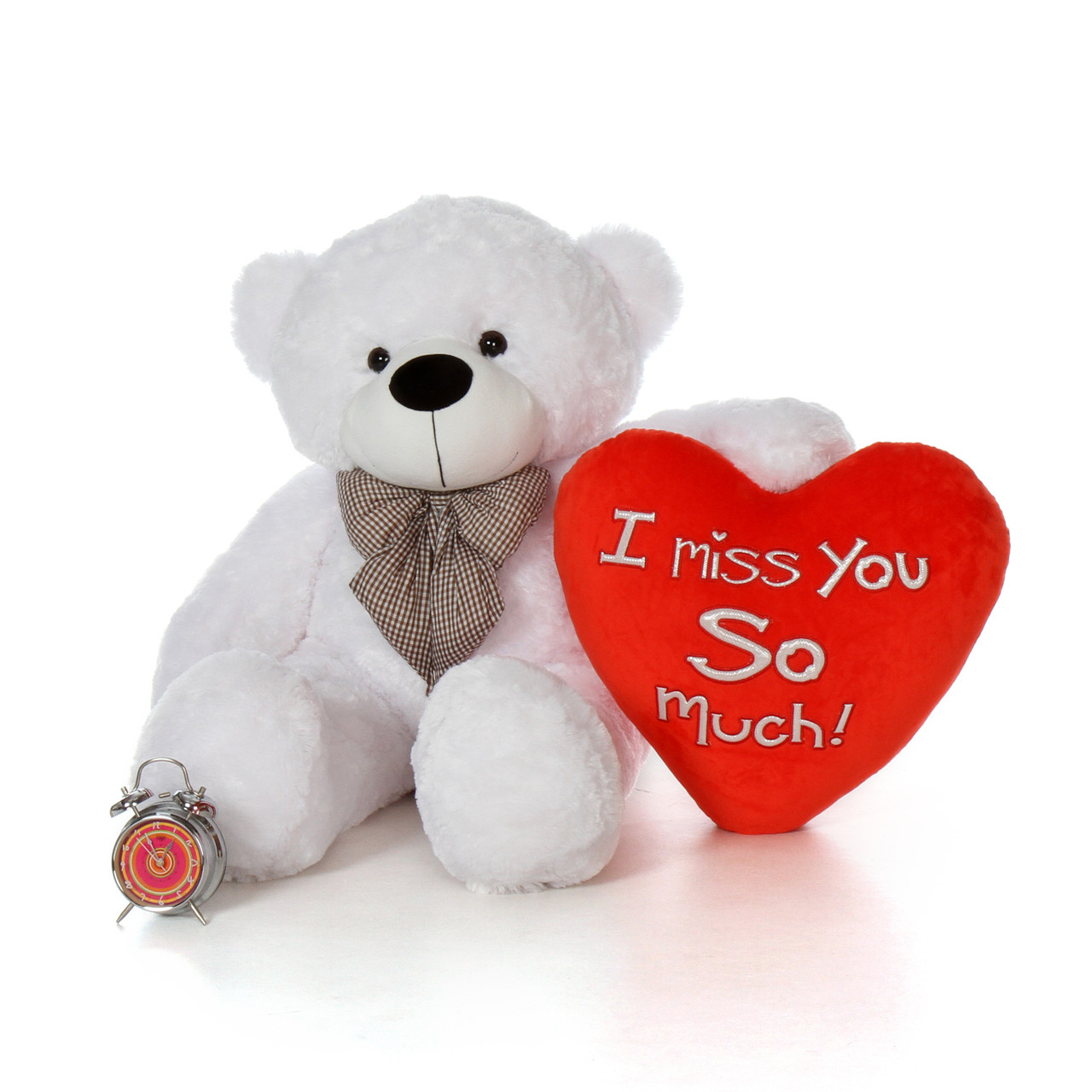 48in Big Valentines Day Teddy Bear With Beautiful I Miss You So