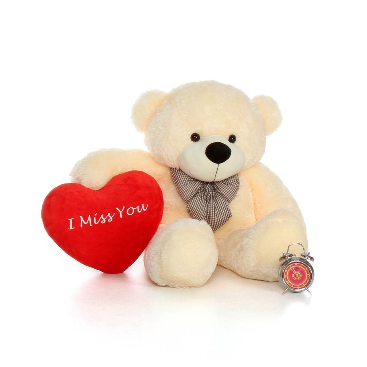 853414f3f26a 48in Big Valentine's Day Teddy Bear With Beautiful 'I Miss You' Red ...