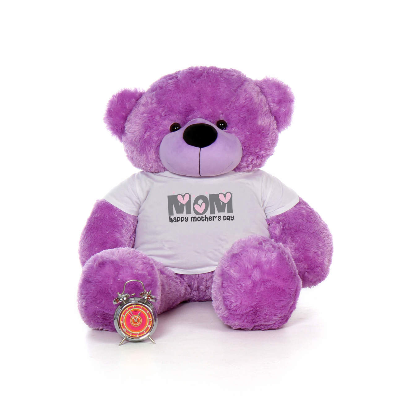 48in Purple DeeDee Cuddles Happy Mother's Day Mom Teddy Bear
