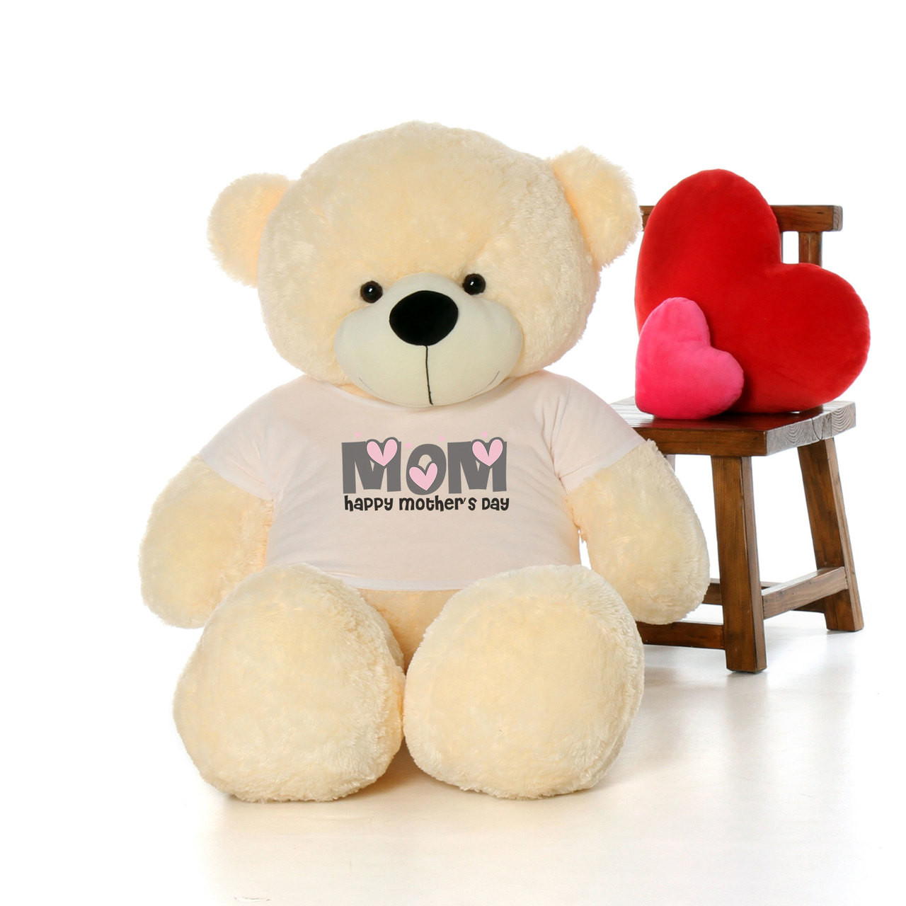 60in Vanilla Cozy Cuddles Happy Mother's Day Mom Teddy Bear