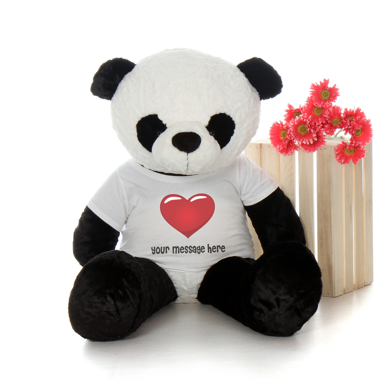 Huge 4ft Personalized Valentine S Day Panda Bear Ricky Xiong By