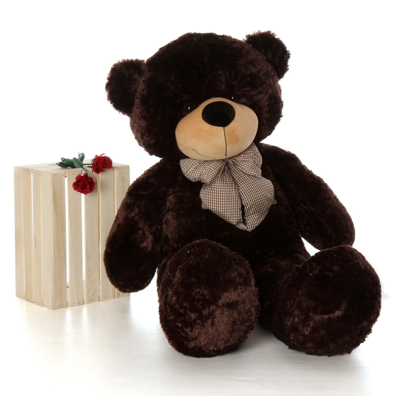 60in Brownie Cuddles Chocolate Brown Teddy Bear