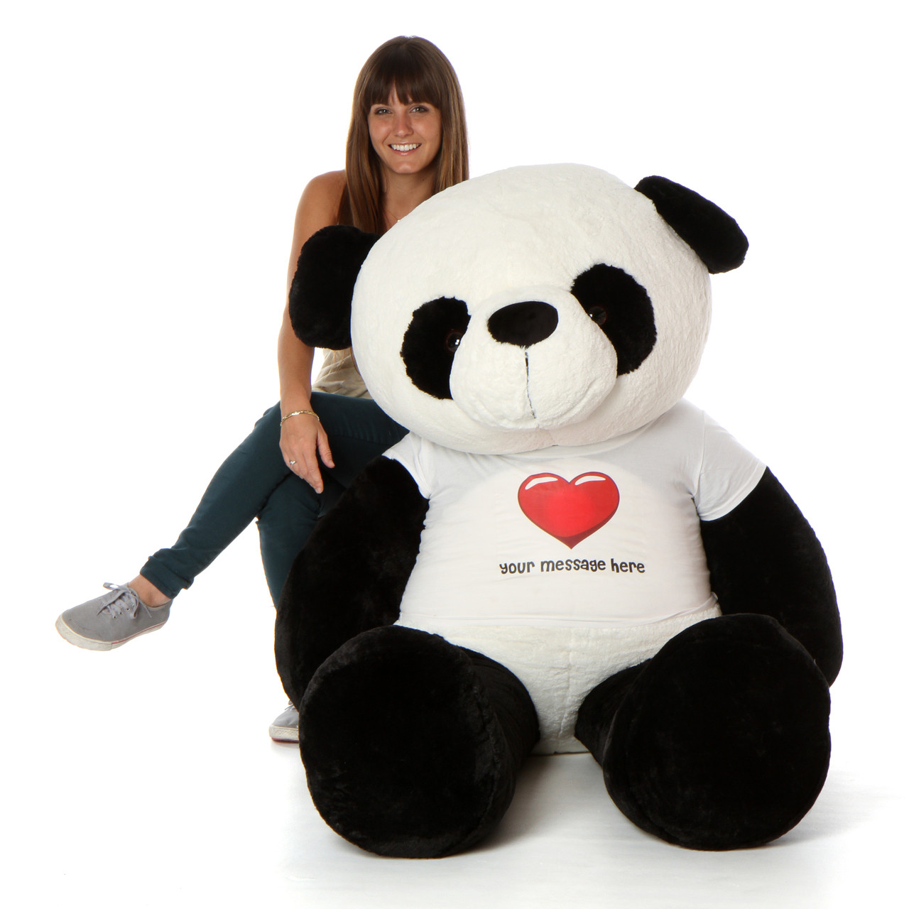 6ft Personalized Panda with Model