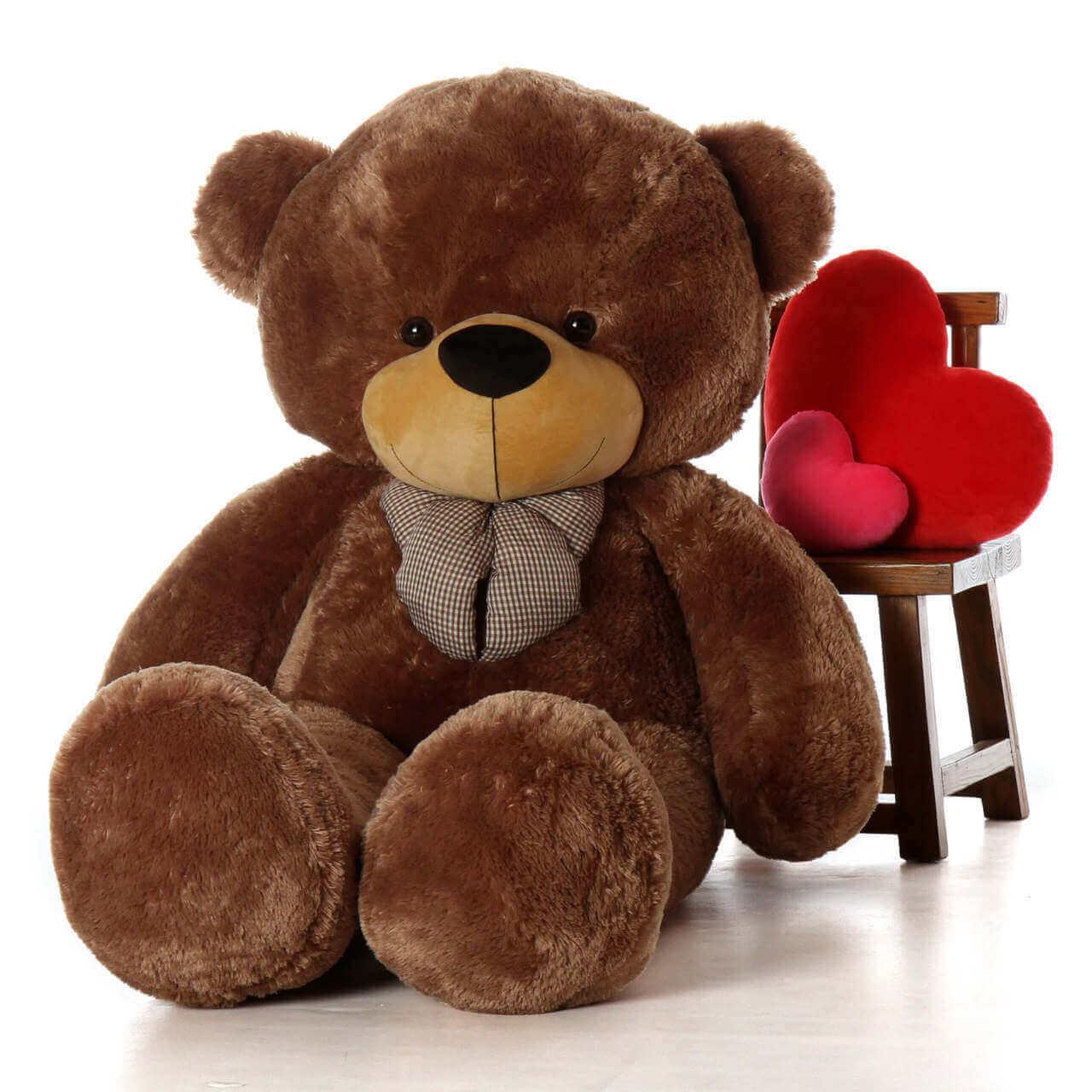 Life Size Mocha Brown Teddy Bear Sunny Cuddles 6ft
