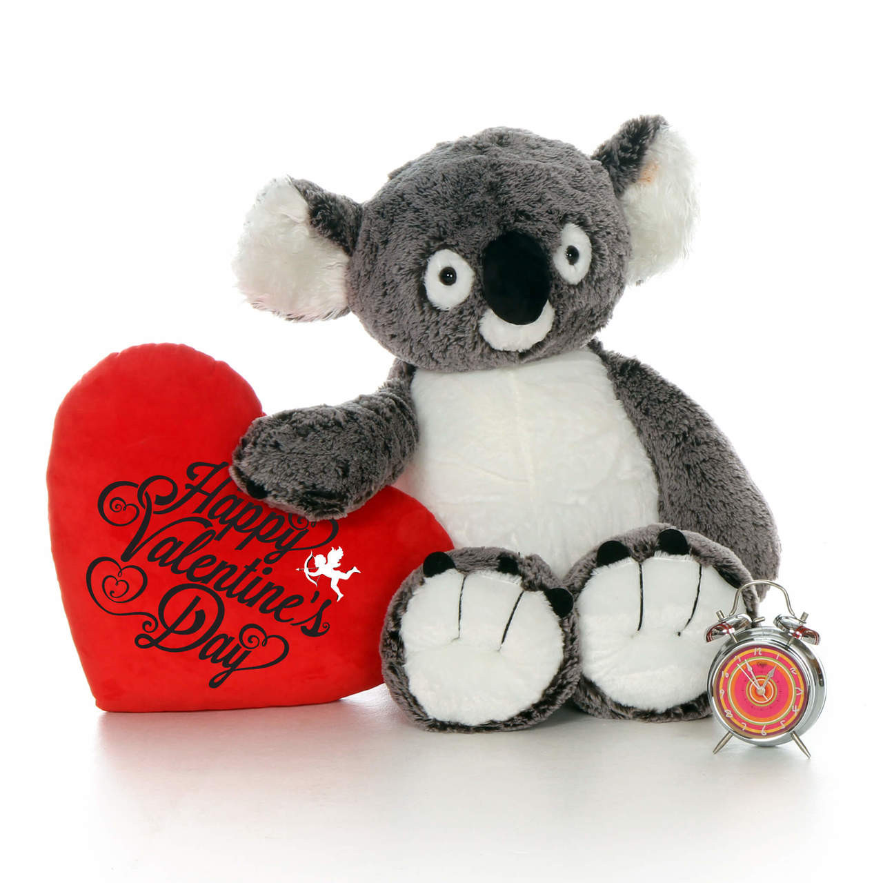 Huge Stuffed Koala With Red Happy Valentine S Day Heart Pillow