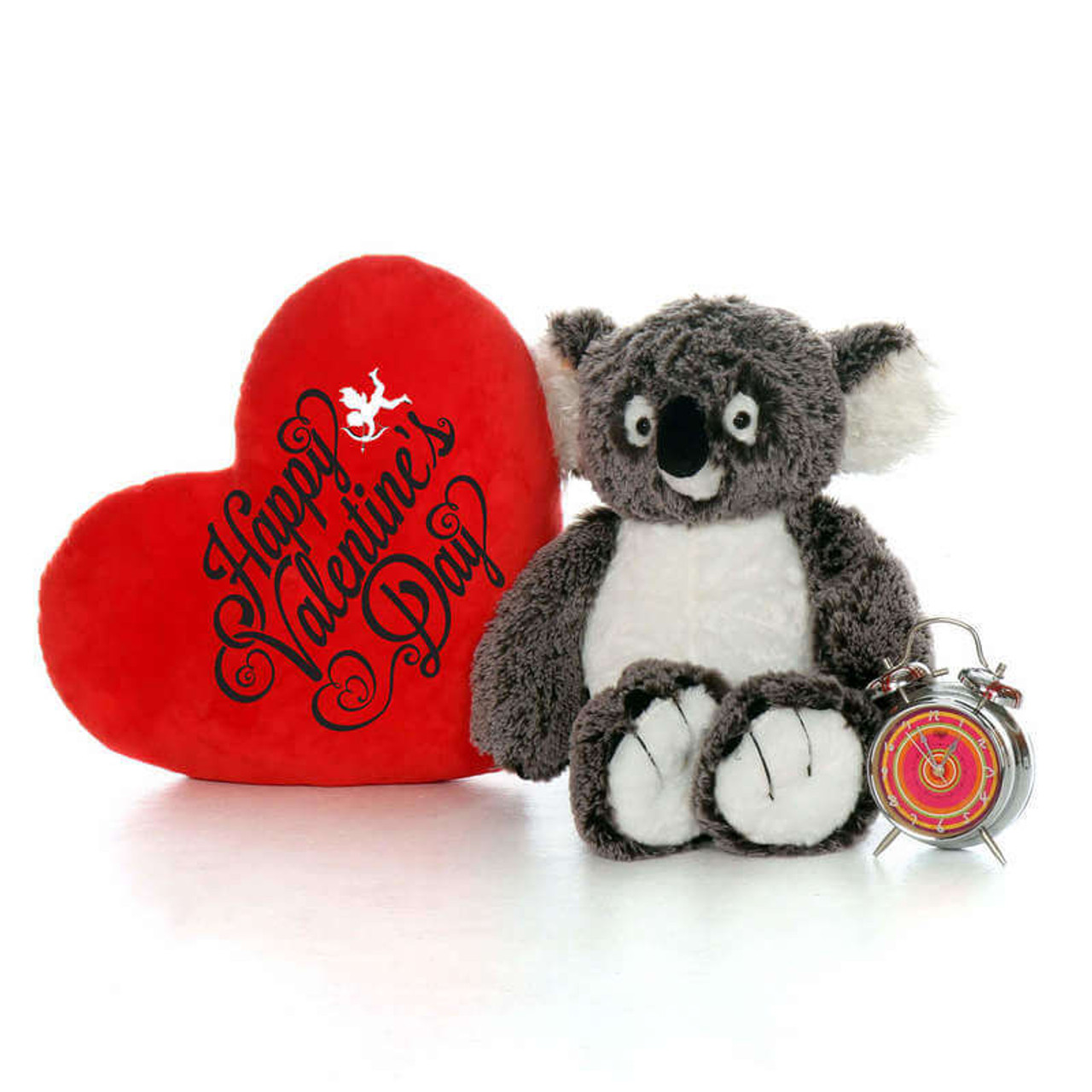 20in Koala Bear with Happy Valentines Day Red Pillow Heart