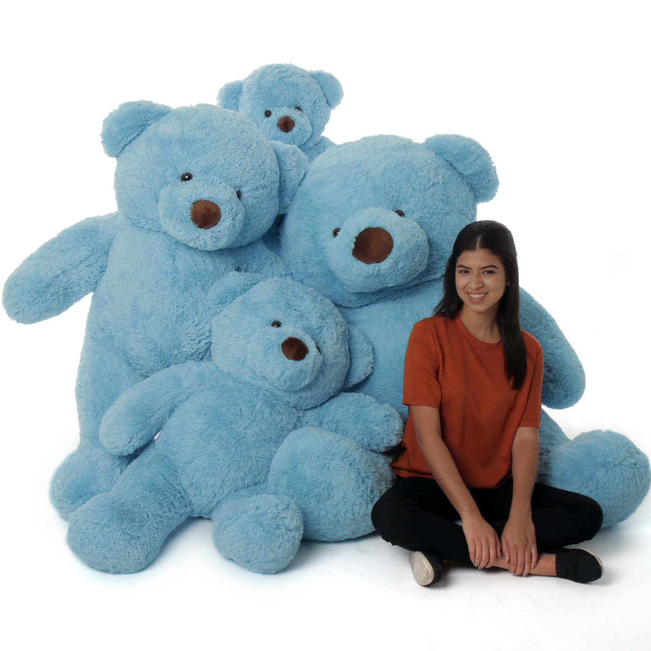 38in Big Sky Blue Huggable Plush Teddy Bear
