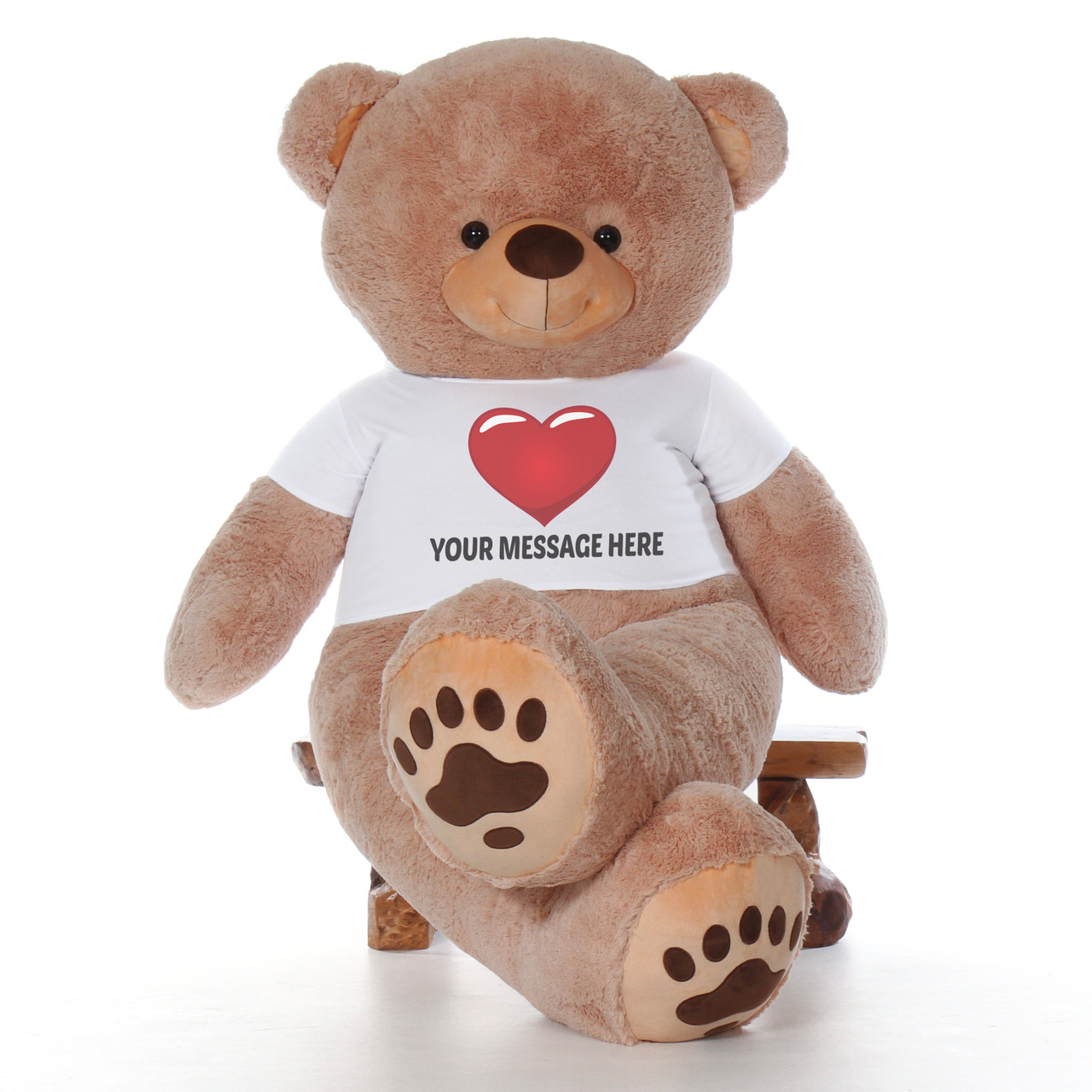 7 Foot Giant Personalized Teddy Bear - Teddy & Hugs