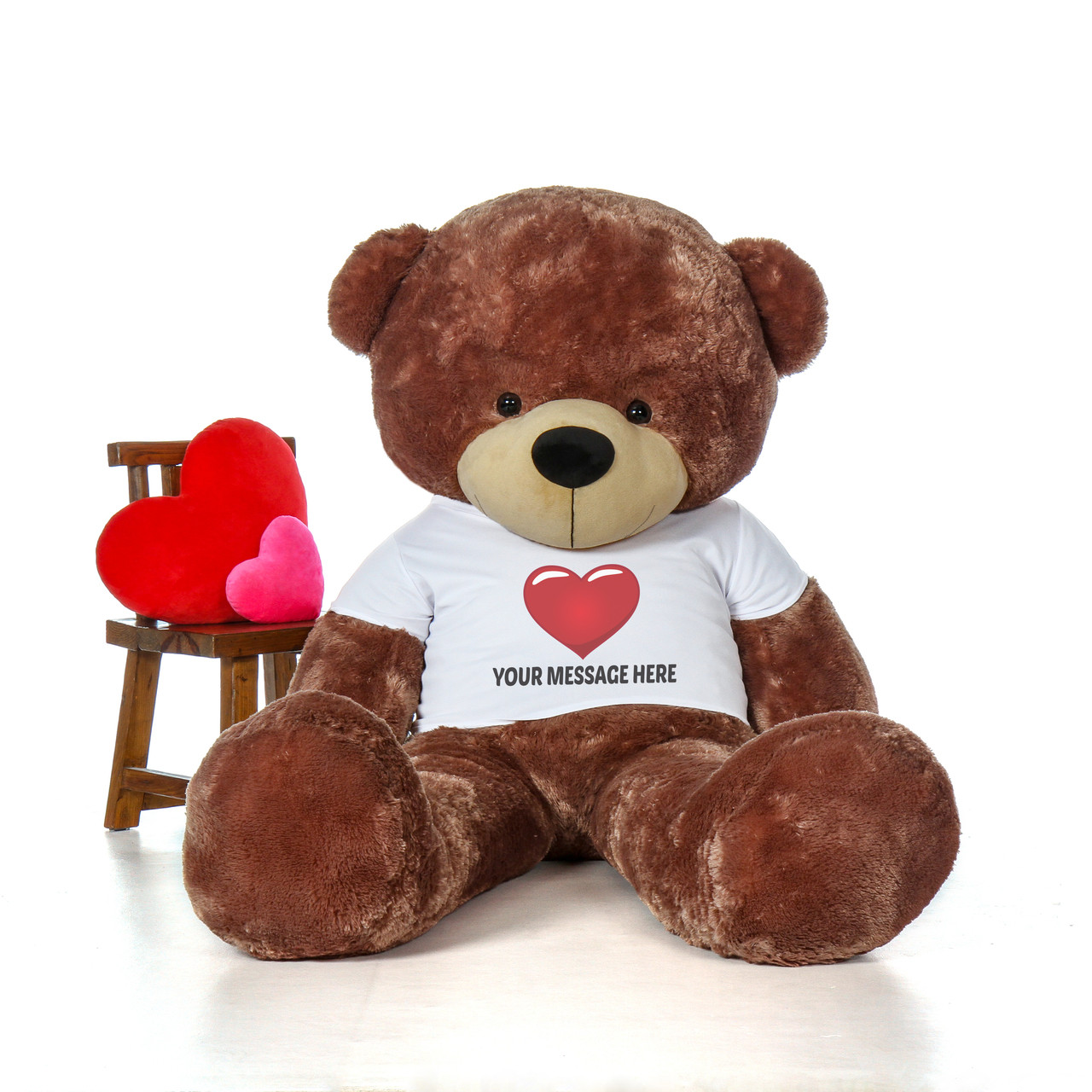 7 Foot Brown Giant Personalized Teddy Bear