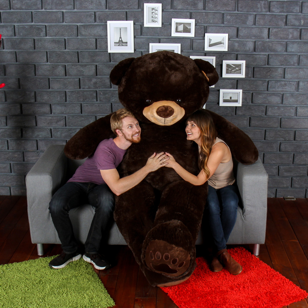 Giant Teddy Chocolate Brown Teddy Bear Enourmous 7 Foot Tall! Biggest Teddy Bear!