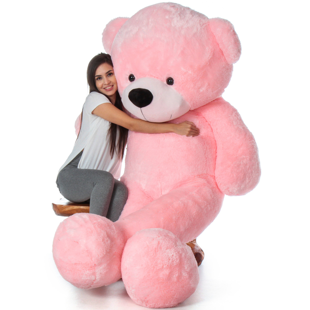 7215936f0db 7 Foot Life Size Pink Giant Teddy Bear Cuddles - The BIGGEST Teddy Bear!