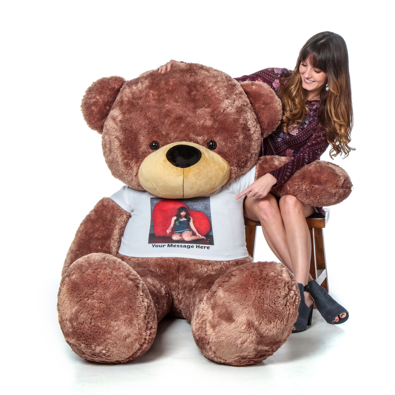 e6a9ee3bcb4 Super Soft Adorable Valentine's Gift Giant Teddy Bear for Girlfriend with  Personalized T-shirt