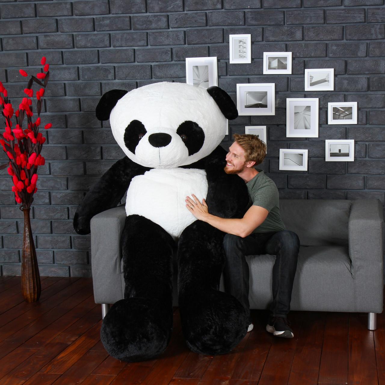 Super Soft Giant Stuffed Panda Big Push Animal Toy - 7 Foot High Quality Teddy Bear