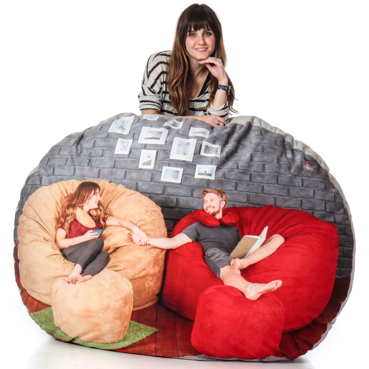 Super Soft Personalized Bean Bag with Custom Photo Upload