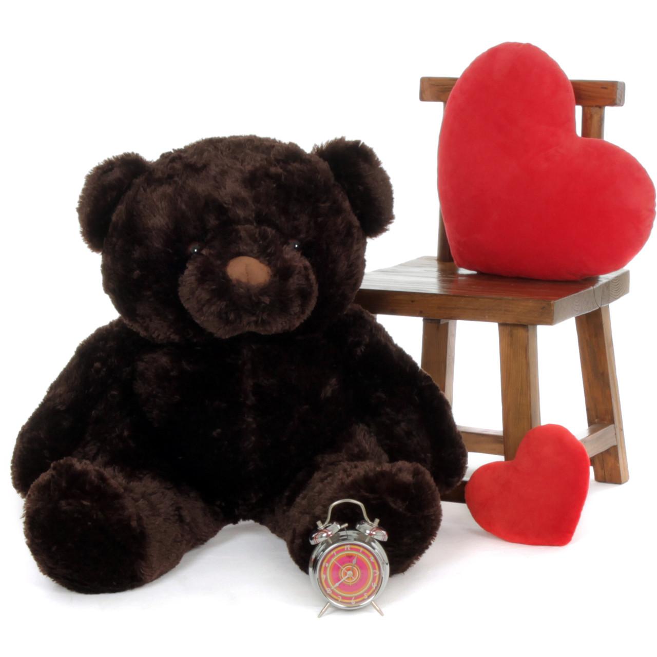 Big Dark Brown Teddy Bear Munchkin Chubs 38in