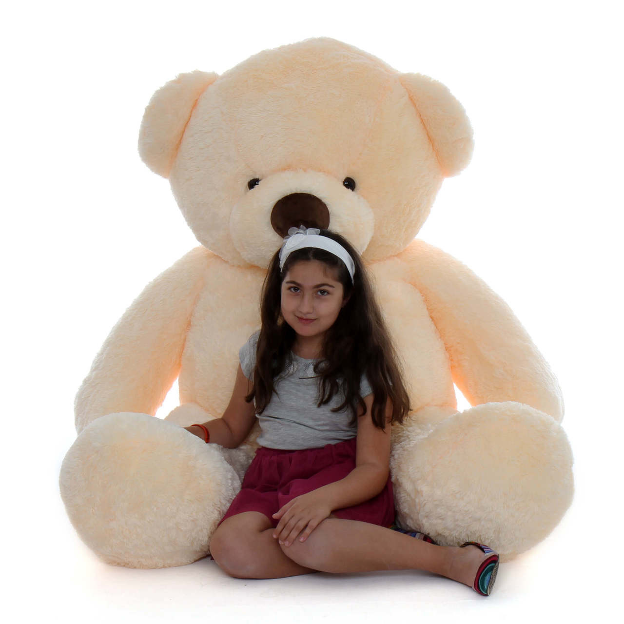 Smiley Chubs vanilla cream teddy bear 6ft Life Sized Extra Cuddly and soft