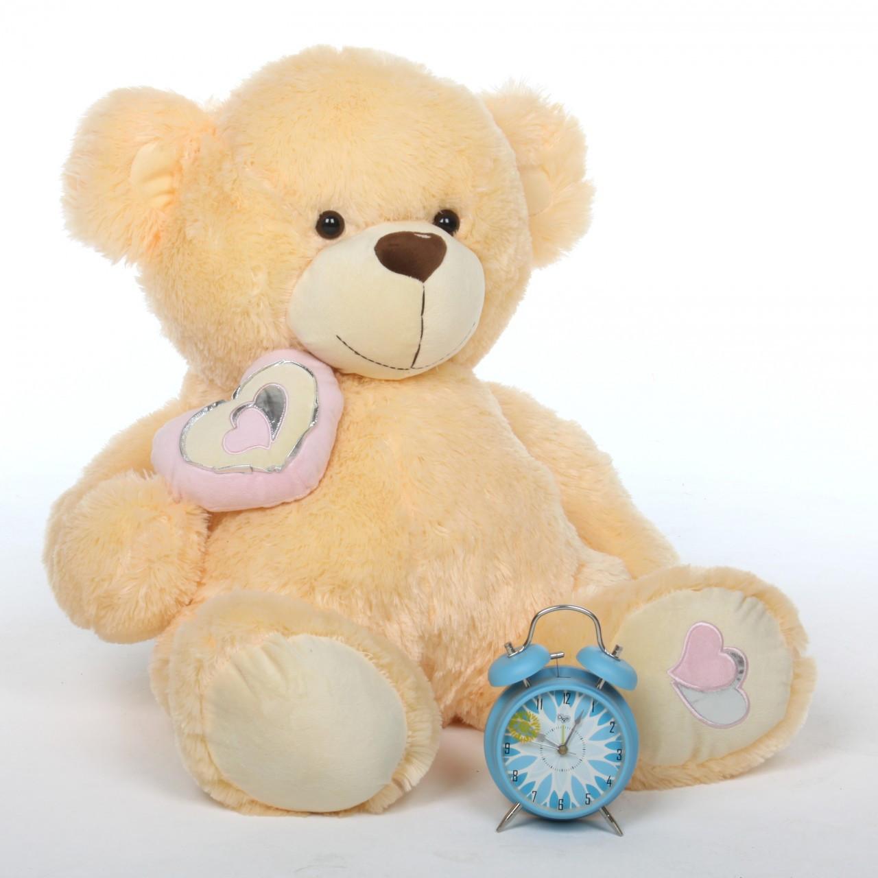 2.5ft Huge Cream Teddy Bear Honey Pie Big Love