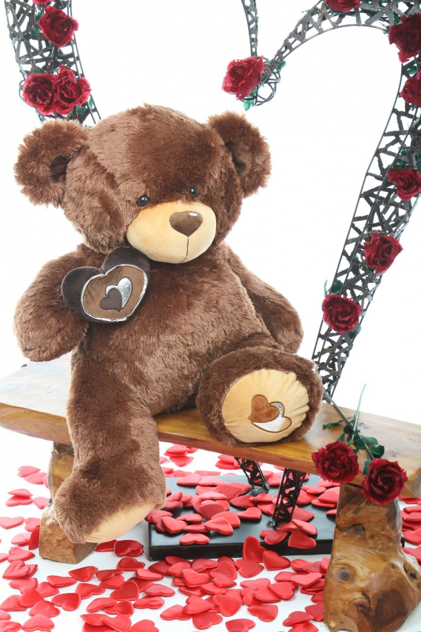 30in Sweetie Pie Big Love hazelnut brown teddy bear