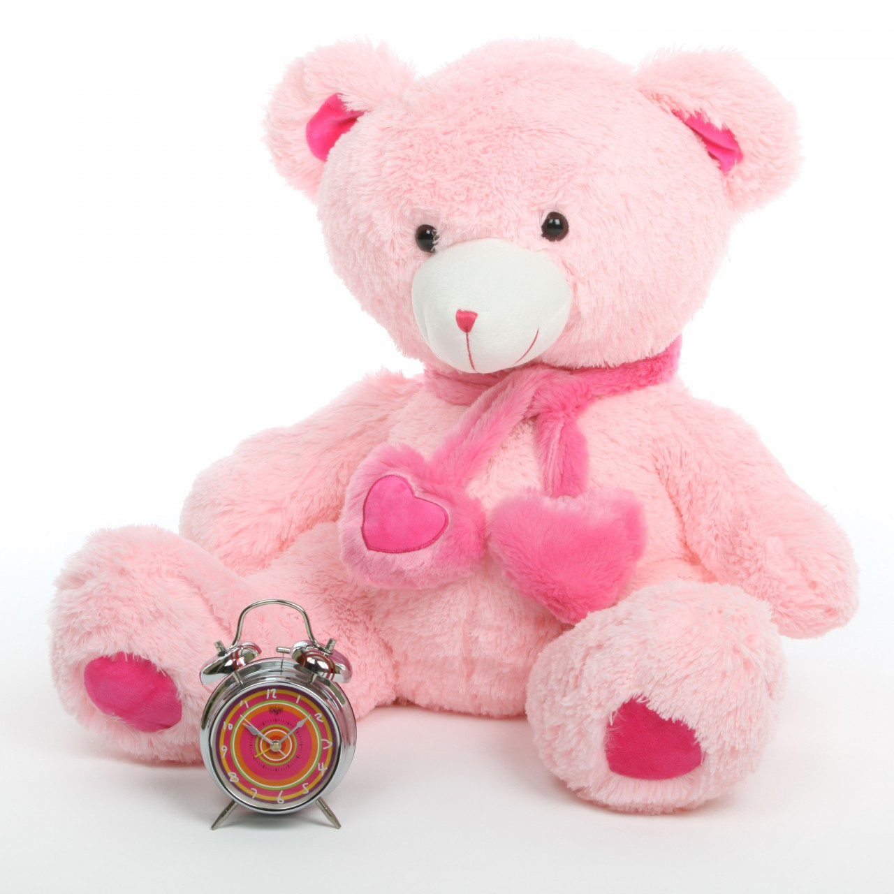 2.5ft Oversized Pink Teddy Bear Candy Hugs