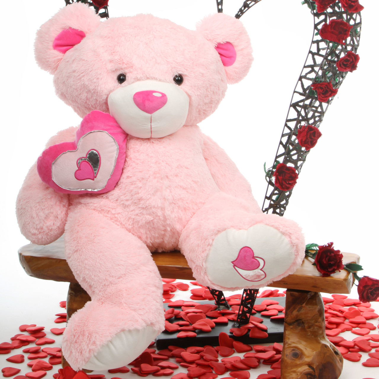 Cutie Pie Big Love 47 Jumbo Pink Plush Teddy Bear Giant Teddy Bear