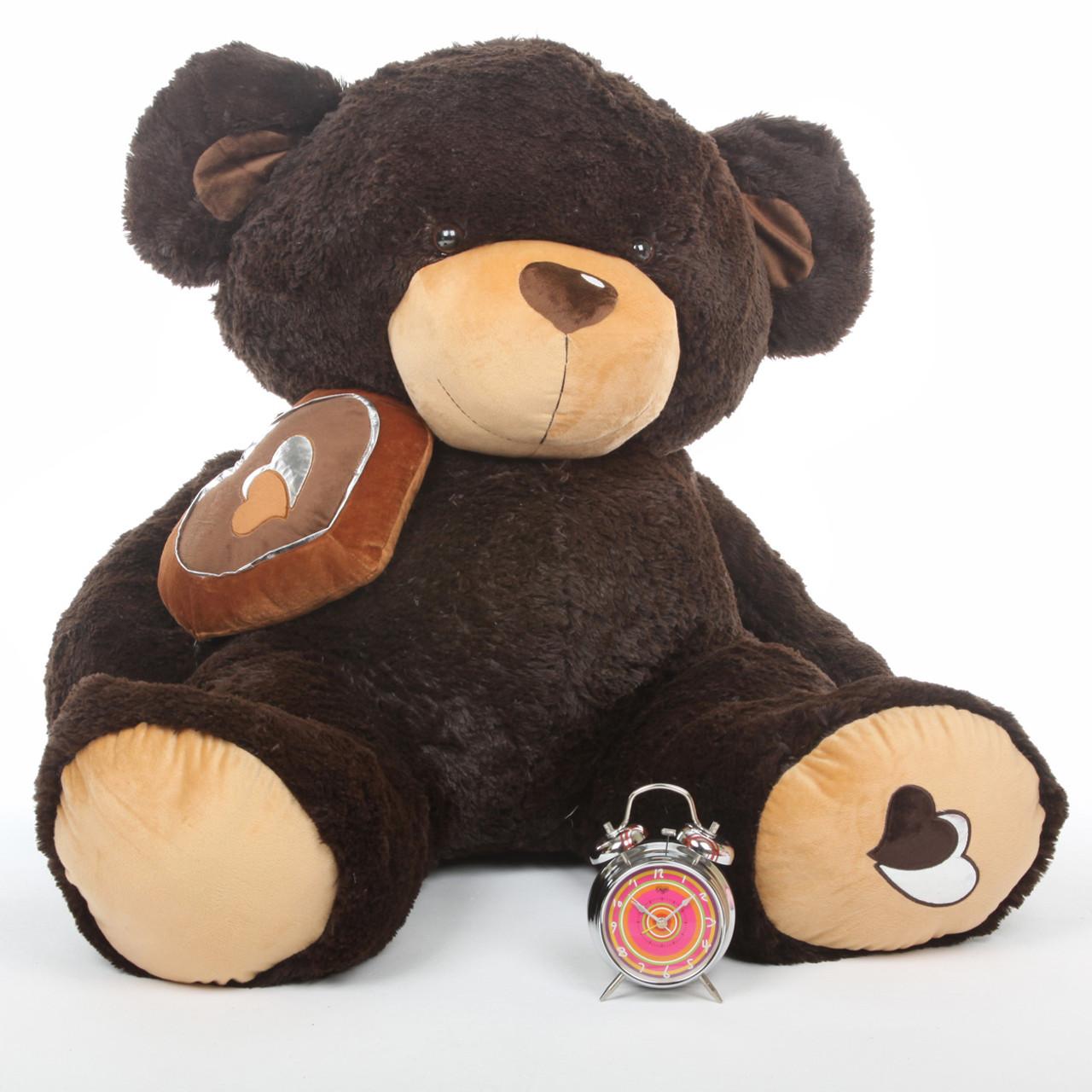 Sugar Pie Big Love chocolate brown teddy bear 47in