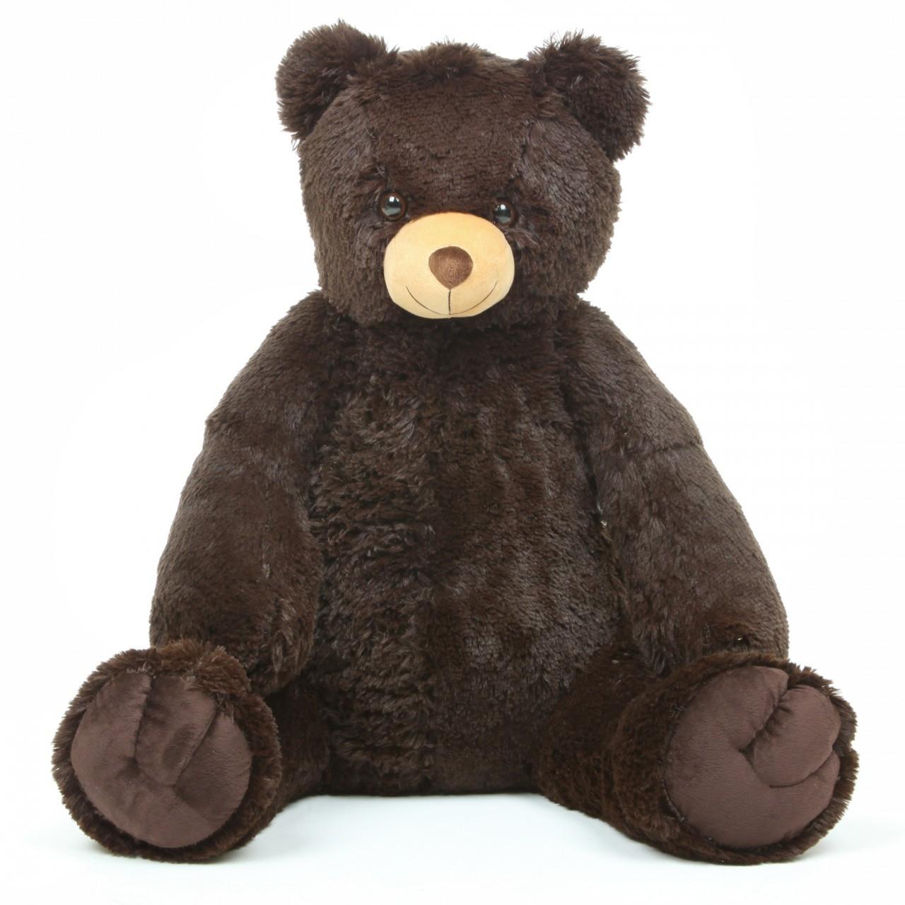 "32/"" Huge Dark Brown Teddy Bear Plush Doll Stuffed Pillow Soft Toy Birthday Gifts"