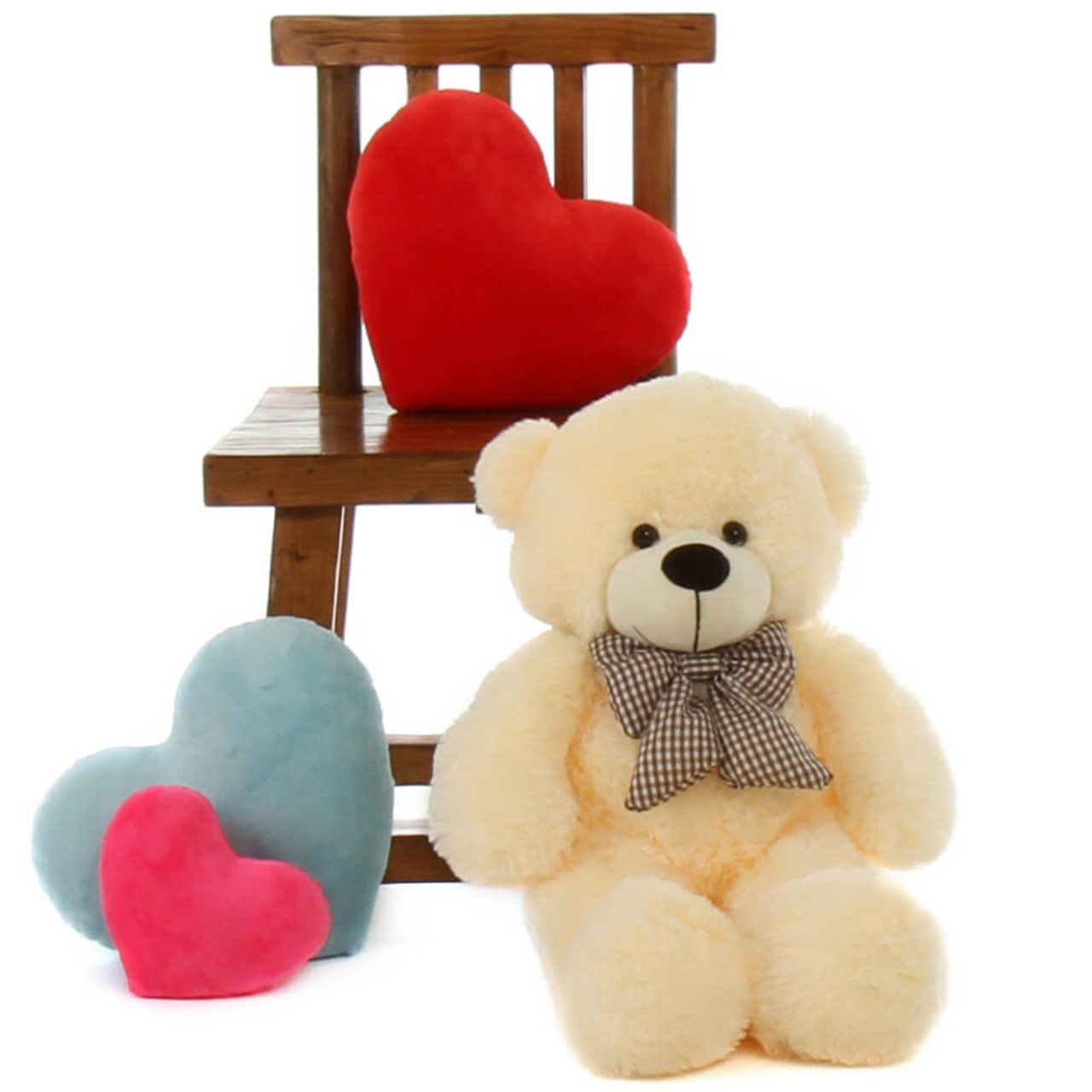 Creamy Vanilla 24in Teddy Bear Cozy Cuddles
