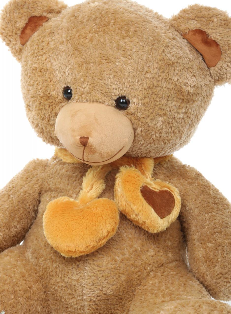 3ft Cupid Hugs Big Cute Amber Heart Teddy Bear