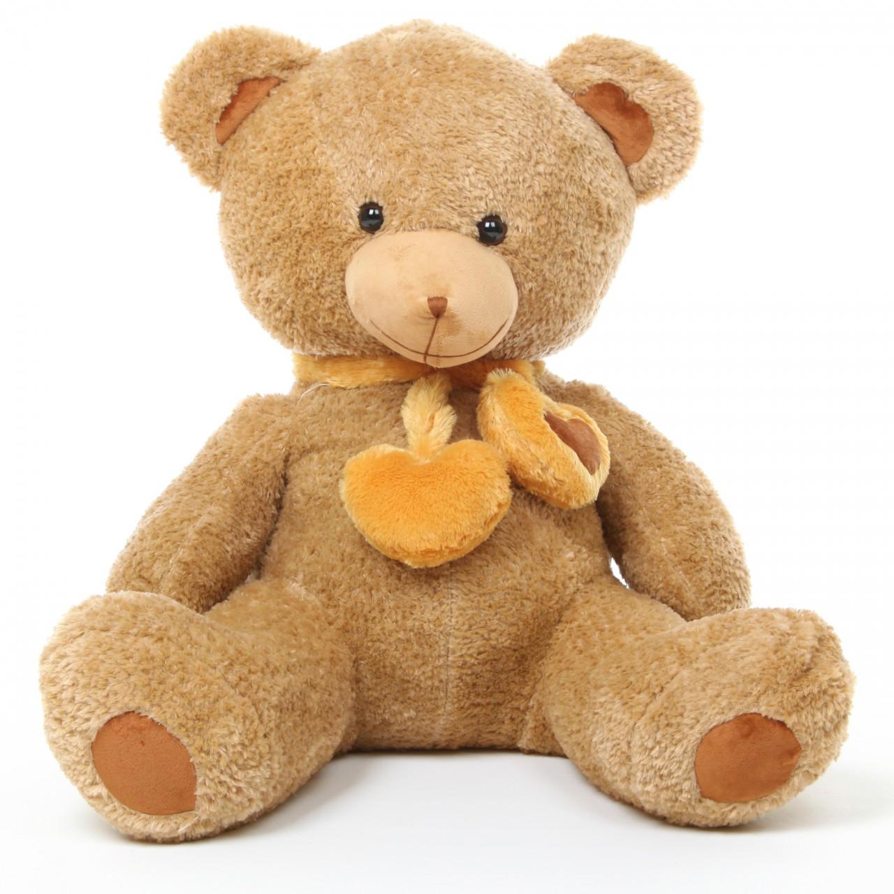 3ft Amber Brown Cupid Hugs Teddy Bear
