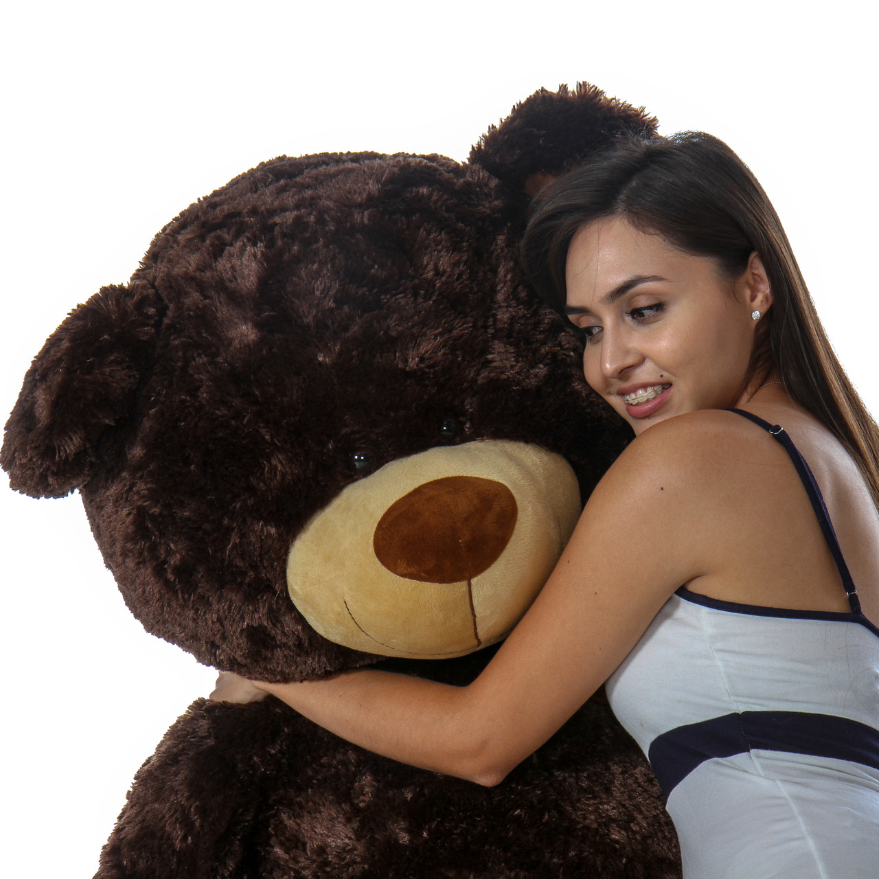 Almond Shags Huge and Cuddly Chocolate Brown Teddy Bear 45in